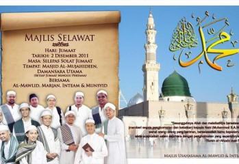 Majlis Selawat bersama AlMawlid, Inteam, Marjan dan Munsyid.