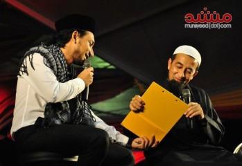 Ustaz Azhar Idrus dan Zizan Raja Lawak sewaktu Sambutan Tahun Baru 2012 di Shah Alam baru-baru ini.